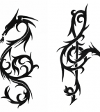 Dragon Treble Clef Tattoo Design
