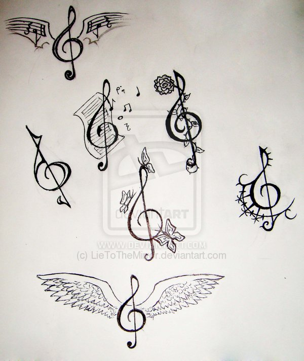 Clef Tattoo Design For Temporary tattoo