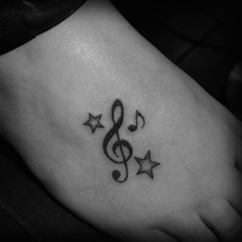 Music And Stars Tattoo Ideas