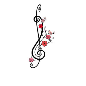 Chic and Cool Treble Clef Tattoo Design Reference for Women