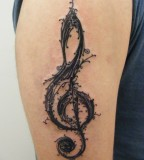 Treble Clef Resurrection Tattoo Shoulder for Men and Women