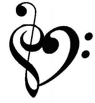 Love and Treble Clef Tattoo Design Ideas