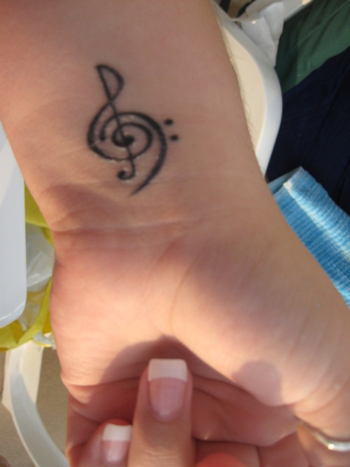 Fascinating Treble And Bass Clef Tattoo for Men and Women