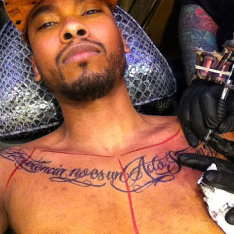 Miguel New Chest Tattoo
