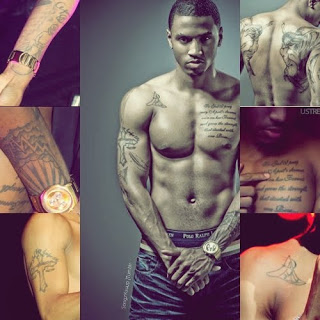 d3af0f6f1 Trey Songz Tattoo On Chest, Forearm, Upper Arm, Back and More ...