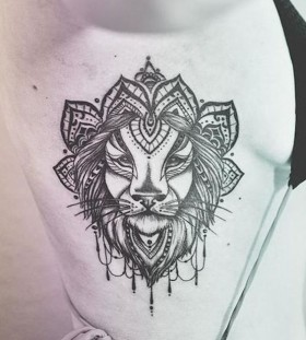 tribal and lace lion