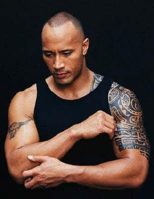 Dwayne Douglas Johnson (The Rock) Arm Tribal Tattoo