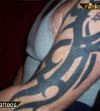 Big Left Arm Tribal Tribal Half Sleeve Tattoo
