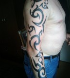 Tribal Tattoo on Arm Sleve Design for Men