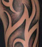Tribal Half Sleeve Tattoo Close-Up