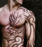 Wonderful Set Tribal Tattoos For Men