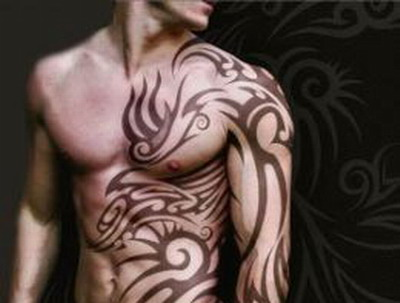 Wonderful Set Tribal Tattoos For Men
