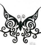 Cool Design Sample for Tribal Butterfly-Inspired Tattoo