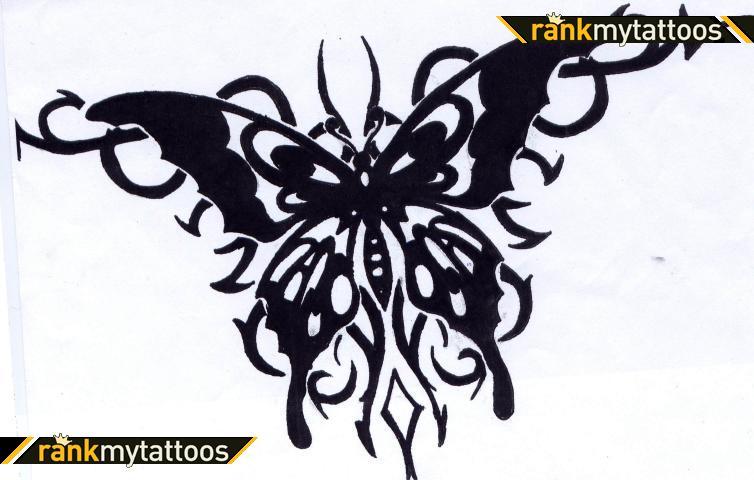 Black Tribal Background Butterfly Tattoo Tattoomagz Tattoo