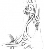 Awesome Sketching for Tribal Butterfly Tattoo