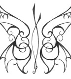 Butterfly-Theme Tribal Design for Tattoo