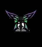 Cool Purple Green Tribal Butterfly Tattoo Sketch