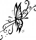 Gorgeous Sample of Tribal Butterfly Tattoo