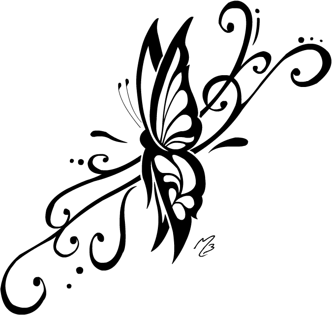 598251aee Gorgeous Sample of Tribal Butterfly Tattoo - | TattooMagz › Tattoo ...