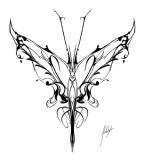 Cool Sample Sketching of Tribal Butterfly Tattoo