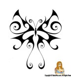 Awesome Tribal Butterfly Tattoo Design