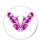 Sample Purple Tribal Butterfly Design for Tattoo