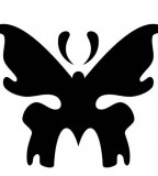 Black Tribal Butterfly Tattoo Art Sample