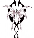 Cool Example Design of Tribal Butterfly Tattoo
