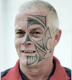 tribal face tattoo 1