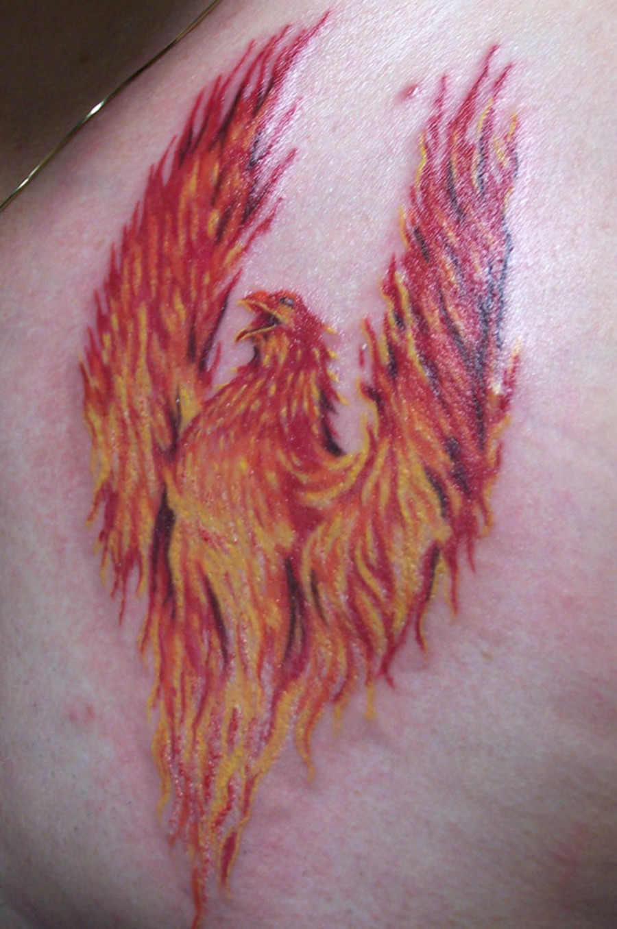 Great Phoenix Bird Details Tribal Tattoo