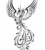 Flying Tribal Phoenix Tattoo Ideas