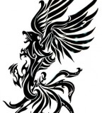 Pretty Tribal Phoenix Tattoo Style And Designs