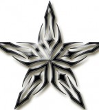 Fantasy Tribal Star Tattoo Design Collection - Star Tattoos