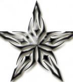Fantasy Tribal Star Tattoo Design Collection - Star Tattoos
