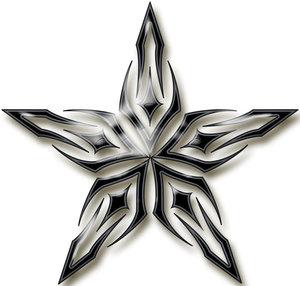 Fantasy Tribal Star Tattoo Design Collection – Star Tattoos
