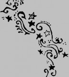 Feminine Swirly Tribal Stars Tattoo Design Sketches - Tribal Tattoos