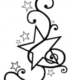 Swirly Star Tattoo Design Template by Darkhaiiro (Deviantart) - Star Tattoos