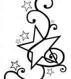 Swirly Star Tattoo Design Template by Darkhaiiro (Deviantart) - Star Tattoos