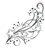 Feminine & Cute Swirly Star Tattoos Designs - Star Tattoos