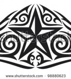 Polynesian Tribal Star Tattoo Design by Shutterstock - Tribal Tattoos