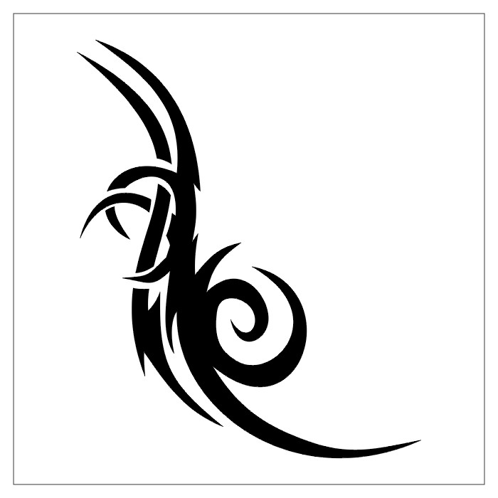 Simple Outline Tribal Design for Tattoo Ideas – Tribal Tattoos