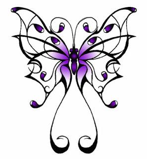 Beautiful Swirly Tribal Butterfly Tattoo Design Ideas – Butterfly Tattoos