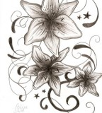 Feminine & Cute Flowers and Swirls Tattoo Design Ideas for Women