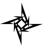 Awesome Tribal Jagged Star Tattoo Designs - Tribal Star Tattoos