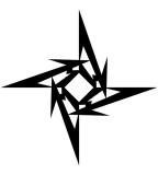 Awesome Tribal Jagged Star Tattoo Designs - Tribal Star Tattoos