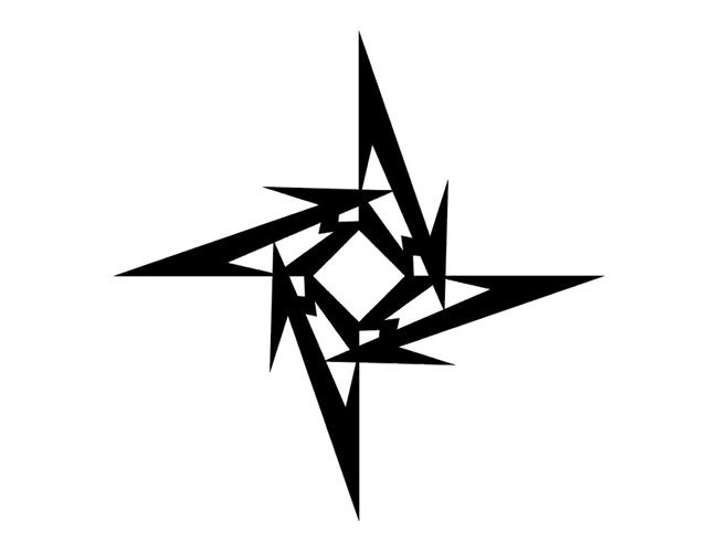 Awesome Tribal Jagged Star Tattoo Designs – Tribal Star Tattoos