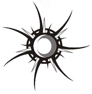 Cool Tribal Star & Sun & Moon Tattoo Design Skeches – Tribal Tattoos