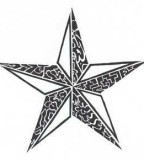 3D-like Tribal Star Tattoos Designs - Tribal Stars Tattoos
