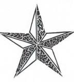3D-like Tribal Star Tattoos Designs - Tribal Stars Tattoos