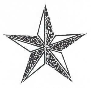 3D-like Tribal Star Tattoos Designs – Tribal Stars Tattoos